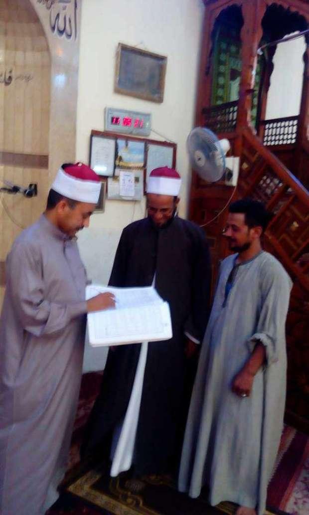 مديرية الاوقاف بأسيوط تشن حملات علي المساجد لمتابعة سير العمل