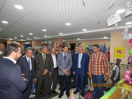 افتتاح معرض للمستلزمات المدرسية بمبنى الغرفة التجارية باسيوط