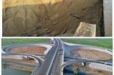 انهيار الطريق الجديد بالكيلو ٣٠ (الفيوم الاسكندريه)
