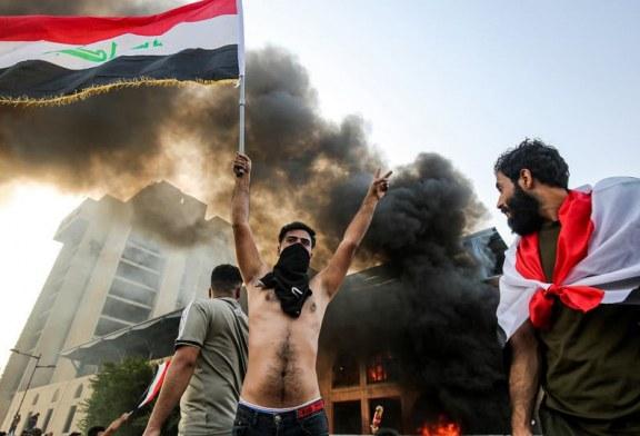 قتيلان و82 مصاباً حصيلة تظاهرات بغداد.. صدامات وهتافات ضد إيران