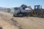 تطهير ترعة عرب المدابع ورفع ونواتج التطهير وتسوية الطريق المجاور لها بمعدات وحدة الانقاذ السريع باسيوط