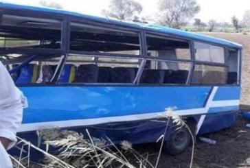 مصرع واصابه ٢٣ شخص في إنقلاب أتوبيس بطريق طنطا