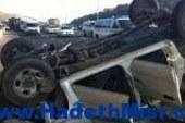 مصرع وإصابة 12 في حادث إنقلاب سيارة بطريق سوهاج – البحر الأحمر