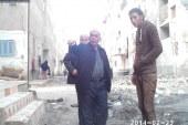 وفد من منظمة مصر الحرة لحقوق الإنسان بمشاركة مجلس مدينة بفوة لتنظيف شوارع مساكن العلوي