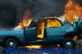 مجهولون يشعلون النيران بسيارة ضابط شرطة بالإسكندرية