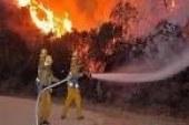 نشوب حريق خلف مبني النيابة الاداريةبأبوتيج