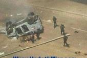 إصابة نقيب شرطة و 4 مجندين نتيجة نقلاب مدرعه أمن مركزى بالمنيا