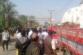"""عاجــل: تكدس مروري بطريق """"القاهرة –الفيوم"""" بعد قطع أنصار المحظورة له"""