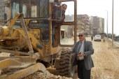 جولة ميدانية لرئيس مركز ومدينة دسوق لمتابعة اعمال المنفذ بتطوير طريق الكورنيش النيل