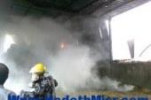 حريق ضخم بمزرعة دواجن بمركز القوصية