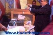 نائب وزير الري يدلي بصوته في انتخابات النقابة