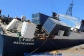 طوارئ في ميناء وهران غربي الجزائر جراء انقلاب باخرة إسبانية