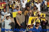 تظاهر طلاب الإخوان بجامعة الأزهر بأسيوط اعتراضًا على ترشح السيسي للرئاسة