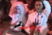 احتفل عريس وعروسه بفوز المشير عبد الفتاح السيسى بالرئاسة أمام ماسبيرو، مساء اليوم.