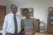 الطالب على ابوبكرعطية المصاب فى حريق اسيوط  : شكرا للواء ابراهيم حماد