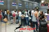 وصول 10آلاف سائح لمطار الغردقة على متن 58 رحلة طيران دولية