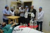 محافظ الغربية يشهد أول حالة لعلاج القرنية المخروطية بمستشفى رمد طنطا