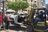 الأجهزة التنفيذية تشن حملة مكثفة لإزالة الإشغالات ببورسعيد .