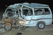 إصابة 12 شخصا فى حادث انقلاب سيارة على الطريق الدولى الساحلى بالبحيرة  …