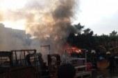 السيطرة على حريق فى سوق الجمعة بحي غرب الإسكندرية