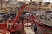 فتح طريق الإسكندرية الصحراوى بعد رفع حطام حادث انهيار كوبرى المشاة