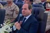 """السيسى منفعلا: """"ناس مش لاقية تاكل وناس بياخدوا 20 ألف فدان وضع يد"""""""