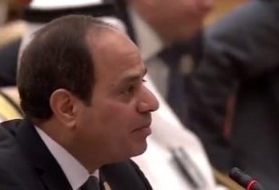 السيسي: تفكك مؤسسات الدولة الوطنية فى المنطقة يفرز بيئة خصبة للإرهاب