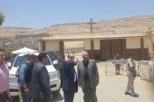 مساعد وزير الداخلية لوسط الصعيد يتفقد النقاط الامنيه بدير درنكة بأسيوط