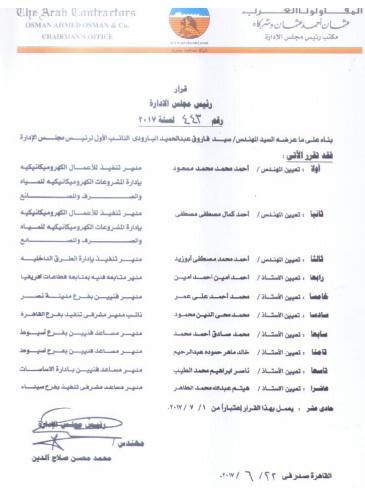 بالمستندات ..عزبة اسمها شركة المقاولون العرب- فرع اسيوط والبلاغ الثالث للرقابة الادارية
