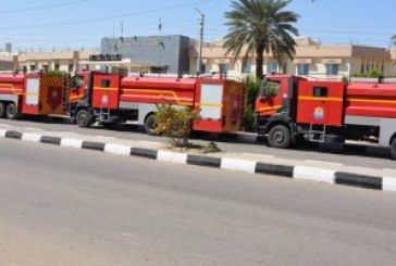 """""""أمن الإسكندرية"""": السيطرة على حريق مصنع بويات برج العرب دون خسائر بشرية"""