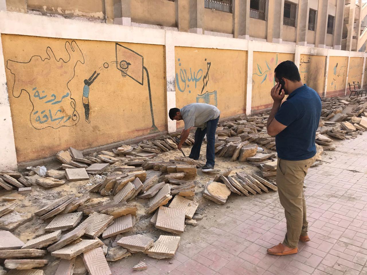 """النائب أحمد على يطلق مبادرة """"الرياضة هى الأمل"""" لإصلاح ملاعب المدارس بالمرج"""